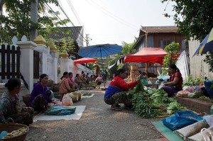 Luang Prabang Laos - morning market