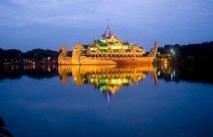 The Karaweik Yangon Myanmar