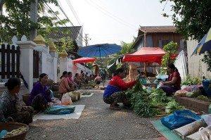 Luang Prabang Laos - morning market